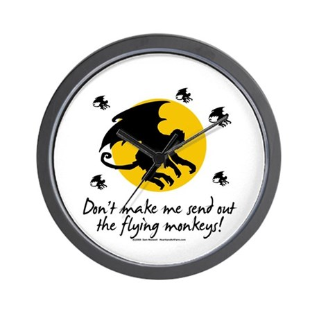 Send Out The Flying Monkeys! Wall Clock