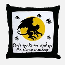 Send Out The Flying Monkeys! Throw Pillow