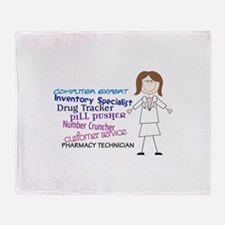 PHARMACY TECHNICIAN Throw Blanket