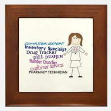 PHARMACY TECHNICIAN Framed Tile