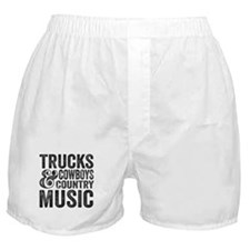 Trucks Cowboys and Country Music Boxer Shorts