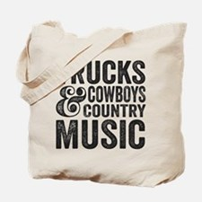 Trucks Cowboys and Country Music Tote Bag