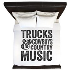 Trucks Cowboys and Country Music King Duvet