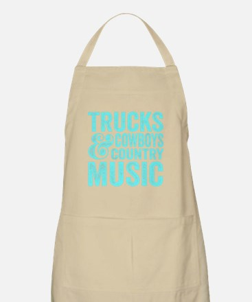 Trucks Cowboys and Country Music Apron