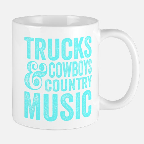 Trucks Cowboys and Country Music Mugs