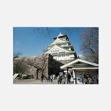 Osaka Castle Entrance Rectangle Magnet