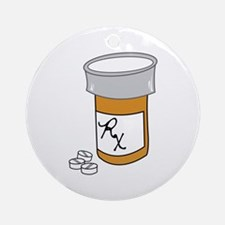 Pill Bottle Ornament (Round)