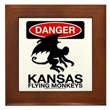 Danger: Flying Monkeys! Framed Tile