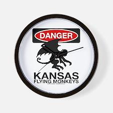Danger: Flying Monkeys! Wall Clock