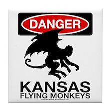 Danger: Flying Monkeys! Tile Coaster