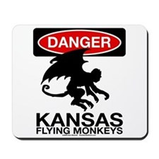 Danger: Flying Monkeys! Mousepad