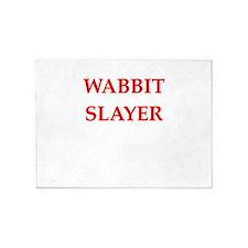 wabbit slayer 5'x7'Area Rug