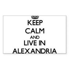 Keep Calm and live in Alexandria Decal