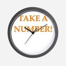take a number Wall Clock