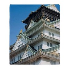 Japanese Castle Building Throw Blanket