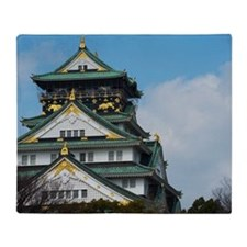 Osaka Castle Throw Blanket