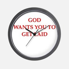 get laid Wall Clock
