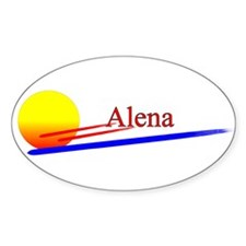 Alena Oval Decal