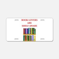 book lover Aluminum License Plate