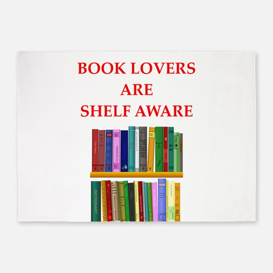 book lover 5'x7'Area Rug