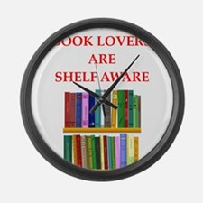 book lover Large Wall Clock
