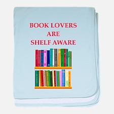 book lover baby blanket