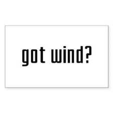 Got Wind? Rectangle Decal