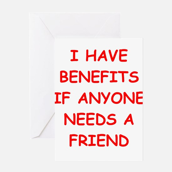 benefits Greeting Cards