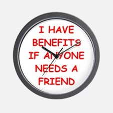 benefits Wall Clock