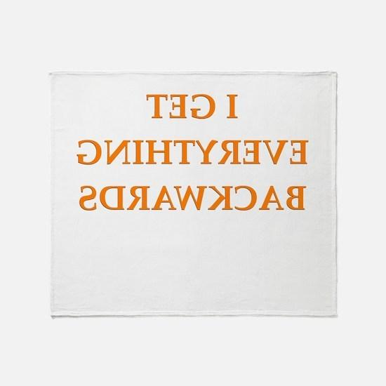 backwards Throw Blanket