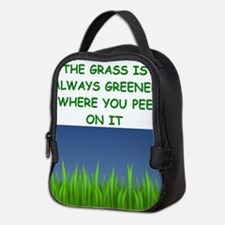 grass Neoprene Lunch Bag
