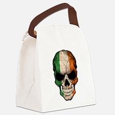 Irish Flag Skull Canvas Lunch Bag