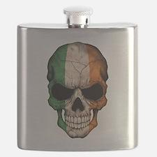 Irish Flag Skull Flask
