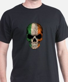 Irish Flag Skull T-Shirt
