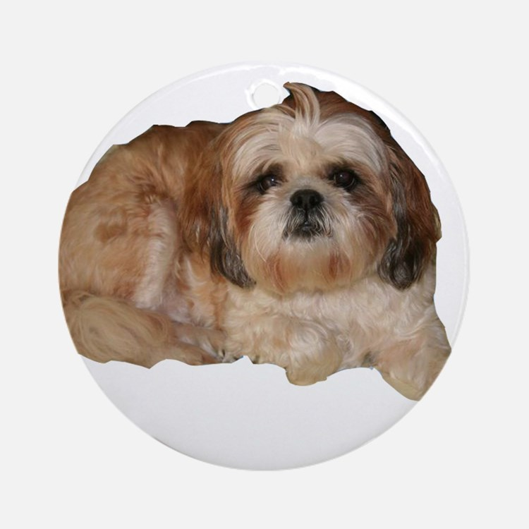 It's all about the Shih Tzu. Ornament (Round)