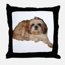 It's all about the Shih Tzu. Throw Pillow