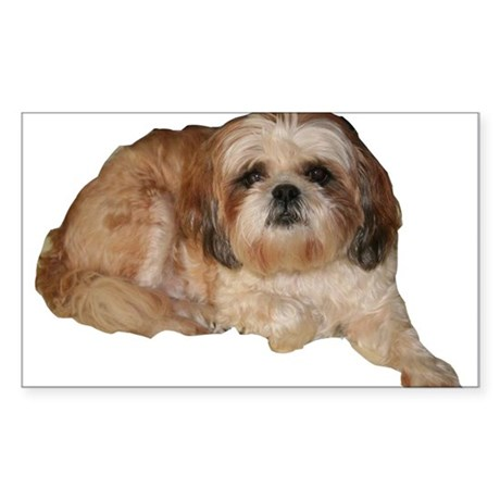 It's all about the Shih Tzu. Rectangle Sticker