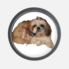 It's all about the Shih Tzu. Wall Clock