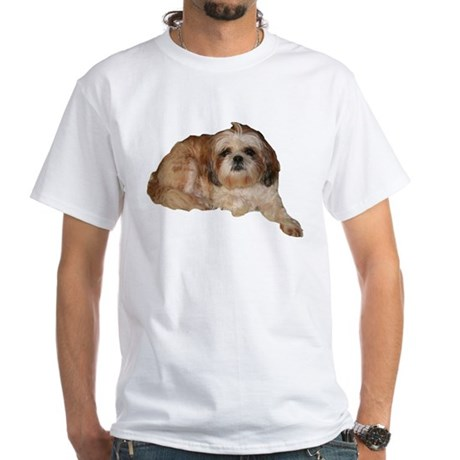 It's all about the Shih Tzu. White T-Shirt