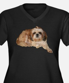It's all about the Shih Tzu. Women's Plus Size V-N