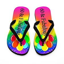 Sparkling 60th Flip Flops