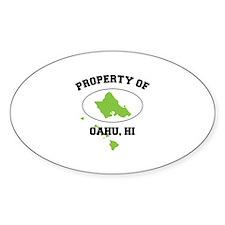 PROPERTY OF OAHU, HI Decal