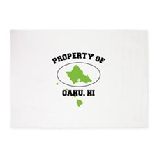 PROPERTY OF OAHU, HI 5'x7'Area Rug