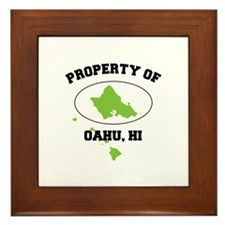 PROPERTY OF OAHU, HI Framed Tile