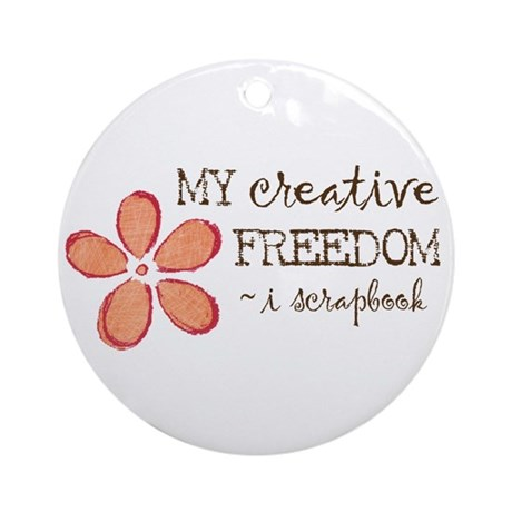 My creative FREEDOM i scrapbook (orange) Ornament