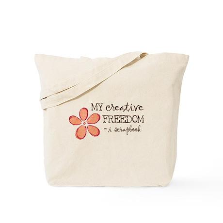 My creative FREEDOM i scrapbook (orange) Tote Bag