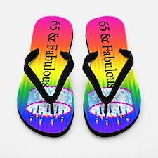 Snazzy 65th Flip Flops