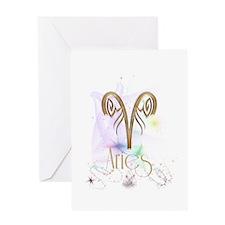 Aries Zodiac Sign Greeting Card