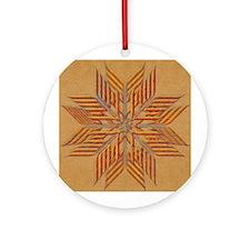 Flower-Allah Ornament (Round)