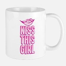 Kiss this girl with funky retro lips Mugs